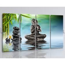 buddha feng shui wall art painting living room 4 panels canvas print