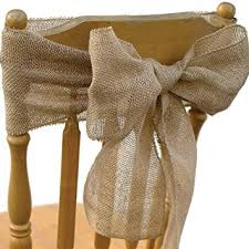 chair sash koyal wholesale vintage rustic burlap chair sash 6 pack