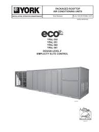 york air conditioner user manual for york eco2 ypal 060 air