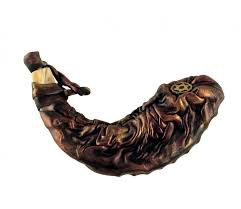 anointing shofar awesome leather bound ram s horn shofar anointing ajudaica