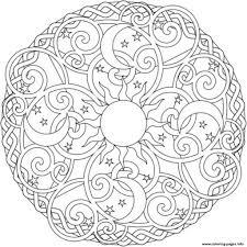 print sun moon and stars mandala s2ada coloring pages free