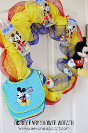 baby shower wreath craft disney baby shower wreath see craft