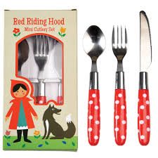 red riding hood children u0027s cutlery set dotcomgiftshop