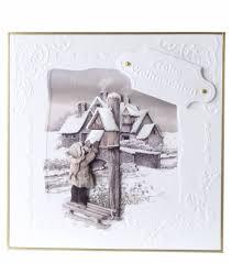 bastelsets craft kits sepia cards christmas craft kit staf