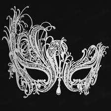 white masquerade masks for women aliexpress buy free shipping luxury phantom white metal