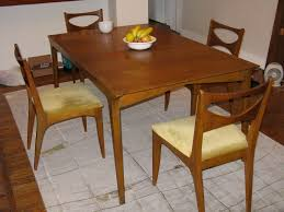 drexel profile dining set before refinish mak mid century