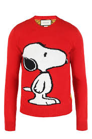 embroidered snoopy sweater gucci vitkac shop