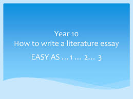 how to write a literature paper year 10 how to write a literature essay