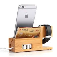 The Bamboo Charging Station Boasts Integrated Apple Watch Charger