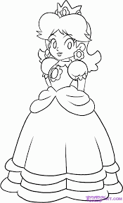 princess peach coloring pages to print free kids coloring