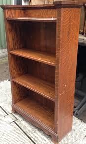 an oak open bookshelf bookshelves antique furniture south