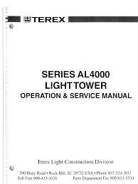 terex light tower serie al4000 operador y servicios