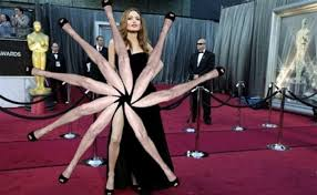 Angelina Leg Meme - angelina jolie oscars 2012 right leg pose goes viral daily mail