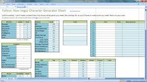 Tf2 Spreadsheet New Vegas Character Generator Spreadsheet At Fallout New Vegas