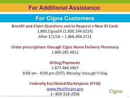 cigna pharmacy help desk phone number cigna individual and family plans ppt video online download