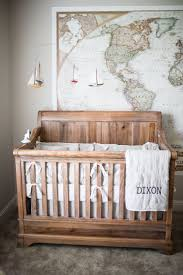 cribs knitted puff and rustic wood baby crib design picture