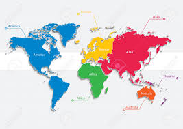 Continent World Map by World Map Continents World Map