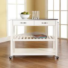 Utility Dolly Home Depot by Create A Cart White Kitchen Cart With Salt And Pepper Granite Top