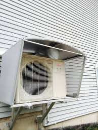 mitsubishi mini split wall mount ductless heat pump covers and shelters