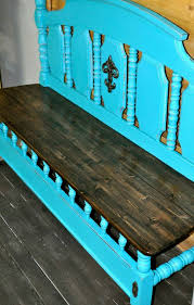 Farm Benches - a benchmade out of head and footboards forgotten farm benches