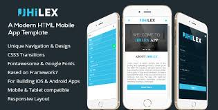 free website templates for android apps jhilex mobile app html template