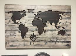 Personalized World Map by World Map Wall Art Oh The Places You U0027ll Go Vintage Carved Wood
