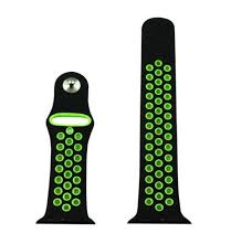 apple watch green light crested sport silicone strap for apple watch band 42 mm 38mm