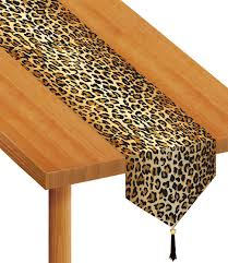Plastic Feet For Outdoor Furniture by Amazon Com Beistle 57848 Printed Leopard Print Table Runner 11