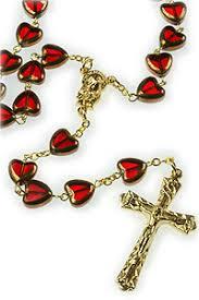 sacred heart rosary bead sacred heart rosary rosarycard net
