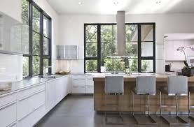 bright modern kitchen bright modern white kitchen with stainless steel appliances