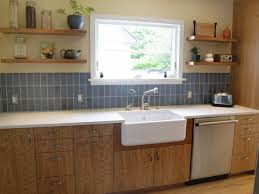 Vertical Subway Tile And Cherry Cabinets Portfolio ReCraft Home - Vertical subway tile backsplash