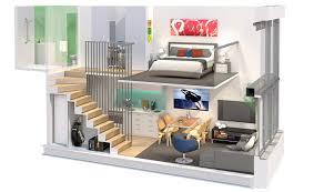 plain loft apartment design layout with open plan and bedroom loft apartment design layout