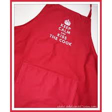 tablier cuisine personnalisé tablier de cuisine brique adulte edelweiss creation