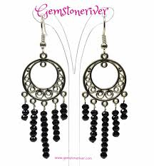 black chandelier earrings black swarovski chandelier earrings strada gemstoneriver