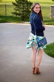 a memory of us floral dress denim jacket a kansas city fashion
