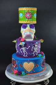 day of the dead wedding cake cup a cakes day of the dead wedding cake