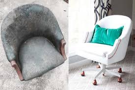 peindre un canap en cuir avant apres peindre un fauteuil en simili cuir idées maison