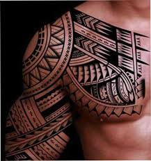 and in color tribal chest designs bull polynesian