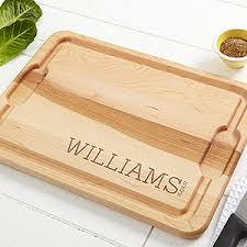 personalized cutting board personalized maple cutting board family name established for