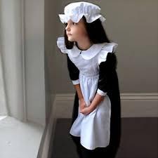 girls kids children u0027s victorian millie maid fancy dress costume