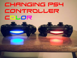 how to change the color of ps4 controller light how to change dualshock 4 color how to change the light bar colour