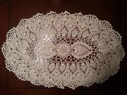 Easy Crochet Oval Rug Pattern Oval Pineapple Doily Part 2 Youtube Crochet Doily U0027s