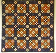 la chambre des couleurs nine patch et variations sur le triangle quilt en tissus français