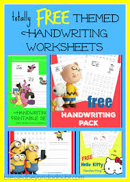 free printable handwriting worksheets fun themes blessed