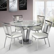dining room table ls cleo contemporary dining chair in white and stainless steel set of