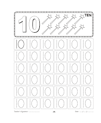 number trace worksheet for kids 9 για την χρυσα pinterest