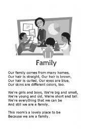 worksheet family poem