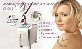 q switched alexandrite laser 1064 nm 532nm best effective laser