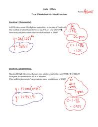 ideas collection grade 10 maths functions worksheets for your