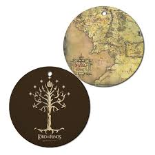 The Hobbit Map The Lord Of The Rings Middle Earth Map And Tree Of Gondor Ornament
